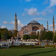 Istanbul's Hagia Sophia Church, Aya Sofya Mosque, Turkey