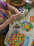 Beads and hangers on sun catchers, Art on the Avenue, West Reading, Berks Co., PA