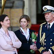 NLD/Amsterdam/20130429 - Inhuldiging Koning Willem - Alexander,  beveiliging van het hotel met koninklijke marrechaussee