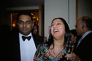 Anju and Pawan Sharma, Eleventh Annual Gala dinner for the Asian Business Awards 2007. Hosted by Eatern Eye and Ethnic Media Group. Hilton Hotel. Park Lane. 8 May 2007.  -DO NOT ARCHIVE-© Copyright Photograph by Dafydd Jones. 248 Clapham Rd. London SW9 0PZ. Tel 0207 820 0771. www.dafjones.com.