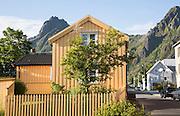 Traditional architecture wooden house, Svolvaer, Lofoten Islands, Nordland, Norway