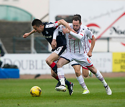Dundee's Cammy Kerr and Ross County's Jim O'Brien. Dundee 1 v 1 Ross County, SPFL Ladbrokes Premiership played 13/5/2017 at Dens Park.