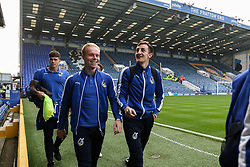 Ryan Broom of Bristol Rovers jokes with Tom Lockyer of Bristol Rovers  as they arrive at Fratton Park - Mandatory by-line: Jason Brown/JMP - 26/09/2017 - FOOTBALL - Fratton Park - Portsmouth, England - Portsmouth v Bristol Rovers - Sky Bet League One