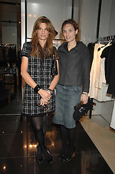 Left to right, JEMIMA KHAN and SHEHERAZADE GOLDSMITH at a lunch to celebrate the launch of the Top Tips for Girls website (toptips.com) founded by Kate Reardon held at Armani, Brompton Road, London on 5th March 2007.<br />