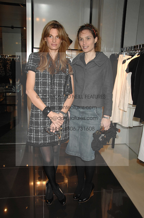 Left to right, JEMIMA KHAN and SHEHERAZADE GOLDSMITH at a lunch to celebrate the launch of the Top Tips for Girls website (toptips.com) founded by Kate Reardon held at Armani, Brompton Road, London on 5th March 2007.<br /><br />NON EXCLUSIVE - WORLD RIGHTS
