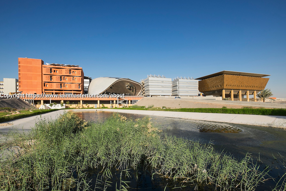 View of  Institute of Science and Technology at Masdar City in Abu Dhabi United Arab Emirates