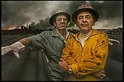 "Firefighters, Kuwait - Sadam's Bonfire"" THE SUNDAY TIMES MAGAZINE (UK)"