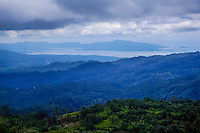 Indonesia, Sulawesi, Rurukan. Bitung and the Lembeh Strait seen from the Rurukan area not far from Tomohon in the Minahasa highland.