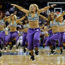 April 11, 2011; New Orleans, LA, USA; New Orleans Hornets Honeybees dancers perform at the end of the third quarter against the Utah Jazz at the New Orleans Arena. The Jazz defeated the Hornets 90-78.  Mandatory Credit: Derick E. Hingle