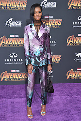 Letitia Wright attends the World Premiere of Avengers: Infinity War on April 23, 2018 in Los Angeles, Ca, USA. Photo by Lionel Hahn/ABACAPRESS.COM