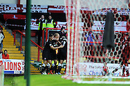 Charlton Athletic players celebrate their 2nd goal scored by Michael Morrison ©. NPower championship, Bristol city v Charlton Athletic at Ashton Gate stadium in Bristol on Sunday 11th November 2012.  pic by Andrew Orchard, Andrew Orchard sports photography,