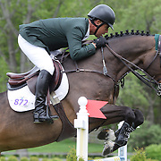 NORTH SALEM, NEW YORK - May 15: Jimmy Torano, USA, riding Daydream, in action during The $50,000 Old Salem Farm Grand Prix presented by The Kincade Group at the Old Salem Farm Spring Horse Show on May 15, 2016 in North Salem. (Photo by Tim Clayton/Corbis via Getty Images)