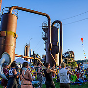 Honk Fest at Gas Works Park after the 2014 Fremont Solstice Parade in Seattle, WA