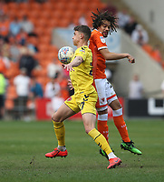 Fleetwood Town's Harrison Biggins shields the ball from Blackpool's Nya Kirby<br /> <br /> Photographer Stephen White/CameraSport<br /> <br /> The EFL Sky Bet League One - Blackpool v Fleetwood Town - Monday 22nd April 2019 - Bloomfield Road - Blackpool<br /> <br /> World Copyright © 2019 CameraSport. All rights reserved. 43 Linden Ave. Countesthorpe. Leicester. England. LE8 5PG - Tel: +44 (0) 116 277 4147 - admin@camerasport.com - www.camerasport.com<br /> <br /> Photographer Stephen White/CameraSport<br /> <br /> The EFL Sky Bet Championship - Preston North End v Ipswich Town - Friday 19th April 2019 - Deepdale Stadium - Preston<br /> <br /> World Copyright © 2019 CameraSport. All rights reserved. 43 Linden Ave. Countesthorpe. Leicester. England. LE8 5PG - Tel: +44 (0) 116 277 4147 - admin@camerasport.com - www.camerasport.com