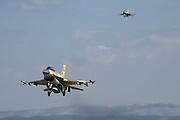 Israeli Air Force (IAF) F-16D Fighter jet in flight