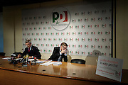 Cesare Damiano and Gianni Cuperlo during press conference at the headquarters of Pd. Roma, 19 November 2013. Christian Mantuano / OneShot