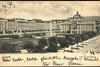 Zagreb : Trg Franje Josipa. <br /> <br /> ImpresumZagreb : Naklada A. Brusine, [1902.].<br /> Materijalni opis1 razglednica : tisak ; 8,9 x 14 cm.<br /> SuradnikMosinger, Rudolf(1865.–1918.)<br /> NakladnikTiskara A. Brusina<br /> Mjesto izdavanjaZagreb<br /> Vrstavizualna građa • razglednice<br /> ZbirkaZbirka razglednica • Grafička zbirka NSK<br /> Formatimage/jpeg<br /> PredmetZagreb –– Trg kralja Tomislava<br /> SignaturaRZG-TOM-20<br /> Obuhvat(vremenski)20. stoljeće<br /> NapomenaRazglednica je putovala 1902. godine. Poleđina razglednice namijenjena je samo za adresu. Razglednica izrađena po fotografiji Rudolfa Mosingera.<br /> PravaJavno dobro<br /> Identifikatori000952755<br /> NBN.HRNBN: urn:nbn:hr:238:426341 <br /> <br /> Izvor: Digitalne zbirke Nacionalne i sveučilišne knjižnice u Zagrebu
