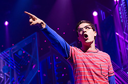 © Licensed to London News Pictures. 11/10/2012. London, England. LOSERVILLE, a new original British musical created by Elliot Davis and James Bourne, is set in 1971 in an American High School and features Aaron Sidwell (EastEnders), Eliza Hope Bennett (Nanny McPhee), Stewart Clarke, Charlotte Harwood (Hollyoaks), Richard Lowe, Lil' Chris (Rock School) and Daniel Buckley. Photo credit: Bettina Strenske/LNP