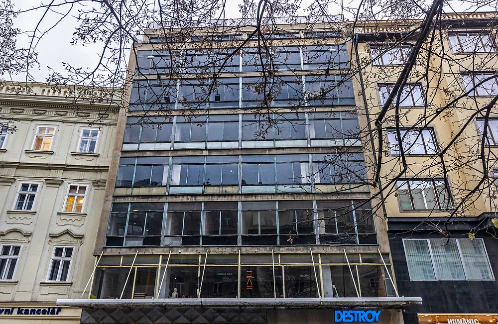 Empty building, Nové Město, Prague, Czech Republic