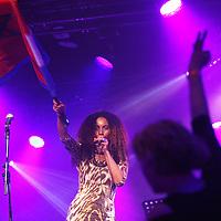 NOVUM:Nederland: Amsterdam; 10 mei 2014.<br /> In de Tolhuistuin wordt zaterdag 10 mei een 'Meer Marokkanen' feestje gegeven naar aanleiding van de omstreden uitspraken van Geert Wilders.<br /> Op de foto: Hind Hakki<br /> <br /> Foto:Jean-Pierre Jans