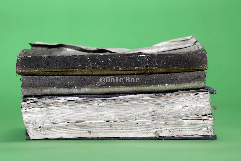 water and time damaged books