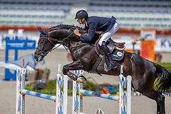 Van Erp Jarno, NED, Jacquet-Go<br /> Nationaal Kampioenschap KWPN<br /> 6 jarigen springen round 2<br /> Stal Tops - Valkenswaard 2020<br /> © Hippo Foto - Dirk Caremans<br /> 18/08/2020