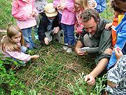 Ranger-led outdoor children's event at Durlston Country Park. Swanage, Dorset, UK.