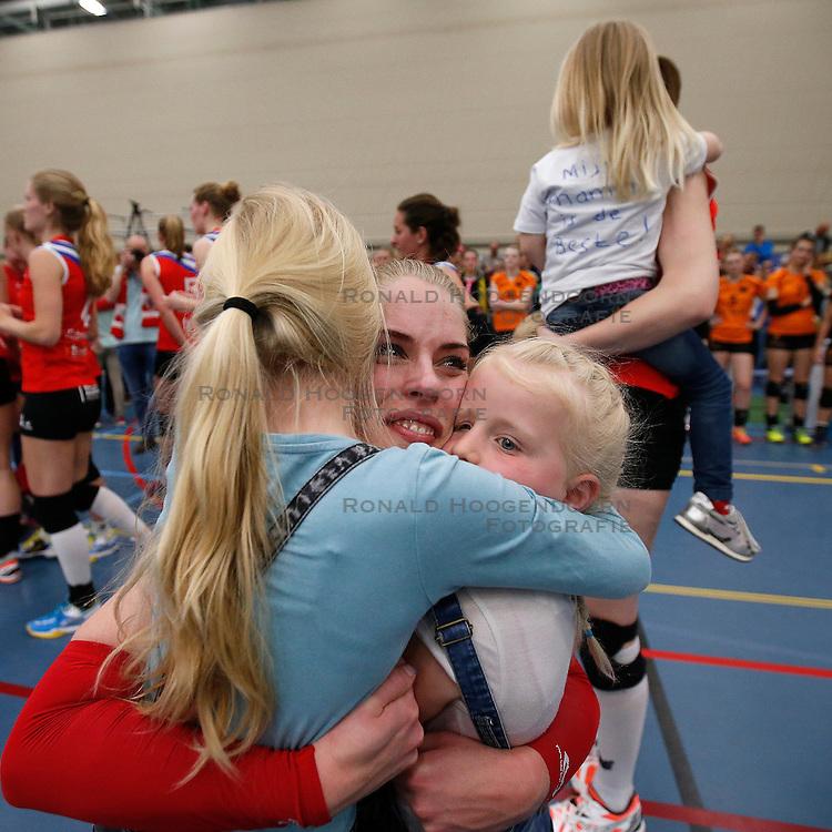 SNEEK , 24-04-2016 , Sneker Sporthal, volleybal , seizoen 2015 - 2016 , VC Sneek is landskampioen 2016 na een 3-0 overwinning in de play-offs tegen Set Up 65. Fenna Zeinstra<br /> <br /> foto: Henk Jan Dijks