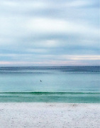 Pastel Beach Scene