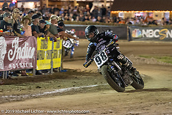 AMA flattracker (no. 98) Kayl Kolkman on his Yamaha MT-07 racer in the AMA Flat track racing at the Sturgis Buffalo Chip during the Sturgis Black Hills Motorcycle Rally. Sturgis, SD, USA. Sunday, August 4, 2019. Photography ©2019 Michael Lichter.