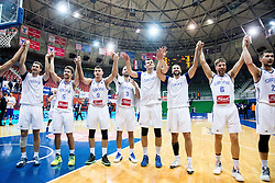 Players of Cibona celebrate during basketball match between KK Cibona Zagreb (CRO) and KK Mornar (MNE) in Round #4 of FIBA Champions League 2016/17, on November 9, 2016 in Drazen Petrovic Basketball center, Zagreb, Croatia. Photo by Vid Ponikvar / Sportida