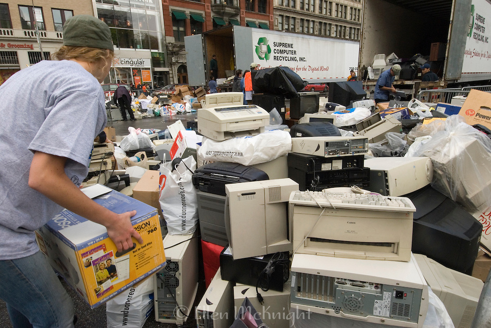 Computer Recycling at Union Square in Manhattan