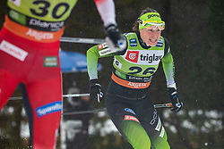 Vesna Fabjan (SLO) during the Ladies sprint free race at FIS Cross Country World Cup Planica 2019, on December 21, 2019 at Planica, Slovenia. Photo By Grega Valancic / Sportida