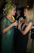Katrine Boorman and Lady Helen Taylor. Party for Bret Easton Ellis's book 'Lunar Park'  given by Geordie Greig. Home House. Portman Sq. London.  London. 5 October 2005. . ONE TIME USE ONLY - DO NOT ARCHIVE © Copyright Photograph by Dafydd Jones 66 Stockwell Park Rd. London SW9 0DA Tel 020 7733 0108 www.dafjones.com