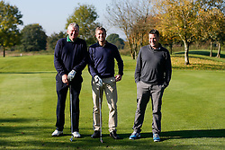 """Lee Mansell of Bristol Rovers joins """"The Egg Chasers"""" team as they take part in the Bristol Rovers charity golf day - Mandatory byline: Rogan Thomson/JMP - 07966 386802 - 12/10/2015 - GOLF - Farrington Park Golf Club - Bristol, England - Bristol Rovers Golf Day."""