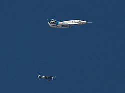 July 26, 2018 - Mojave California, U.S - At around 6am Thursday morning, Virgin Galactic, the aerospace company casually announce plans to test one of its SpaceShipTwo (SS2) spaceplanes. Roughly three-and-a-half hours later, the spaceplane, named the VSS Unity, took off from the Mojave Air and Space Port in Mojave. About 20 minutes after that, it touched down. (Credit Image: © Gene Blevins via ZUMA Wire)