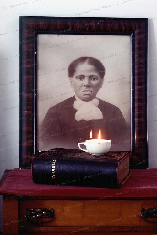 Harriet Tubman portrait at her home in Auburn, New York.
