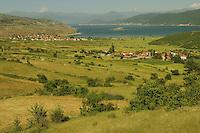 Landscape. Lake Prespa National Park, Albania June 2009