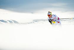 February 2, 2018 - Goms, SWITZERLAND - 180202 BjÅ¡rn SandstrÅ¡m of Sweden competes in the men's 15/15 km skiathlon during the FIS U23 Cross-Country World Ski Championships on February 2, 2018 in Obergoms..Photo: Vegard Wivestad GrÂ¿tt / BILDBYRN / kod VG / 170096 (Credit Image: © Vegard Wivestad Gr¯Tt/Bildbyran via ZUMA Press)