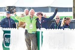 Pedro Cebulka, (CAN), Charlotte Dujardin, (GBR) - Horse Inspection Dressage - Alltech FEI World Equestrian Games™ 2014 - Normandy, France.<br /> © Hippo Foto Team - Leanjo de Koster<br /> 25/06/14