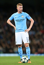 17th October 2017 - UEFA Champions League - Group F - Manchester City v Napoli - Kevin De Bruyne of Man City - Photo: Simon Stacpoole / Offside.