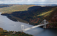 Bear Mountain, New York - A view of the Bear Mountain Bridge, the Hudson River and the Hudson Highlands from Bear Mountain on Oct. 2, 2014.