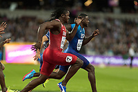 Athletics - 2017 IAAF London World Athletics Championships - Day One<br /> <br /> Event: Men's 100 Metres Qualifying <br /> <br /> Justin Gatlin (USA) leads the field <br /> <br /> <br /> COLORSPORT/DANIEL BEARHAM