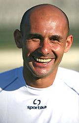 Senad Tiganj at practice of free players of SPINS before departure to FIFPro tournament 2008 in Amsterdam, The Netherlands, for out-of-contract football professionals, on July 16, 2008, at Stadium ND Ilirija, in Ljubljana, Slovenia. (Photo by Vid Ponikvar / Sportal Images)