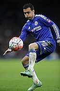 Pedro of Chelsea in action. The Emirates FA Cup, 5th round match, Chelsea v Manchester city at Stamford Bridge in London on Sunday 21st Feb 2016.<br /> pic by John Patrick Fletcher, Andrew Orchard sports photography.