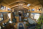 ALASKA HOMER INSIDE VIEW OF RE-STORED WINNEBAGO MOTOR HOME