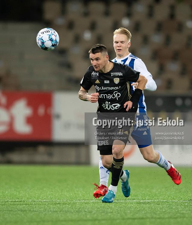 Denys Oliinyk. HJK - SJK. Veikkausliiga. Helsinki 3.10.2021. Photo: Jussi Eskola