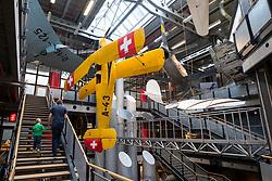 Interior of Deutsches Technikmuseum, German Museum of Technology, in Berlin, Germany