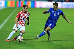 13.10.2014, Stadion Gradski vrt, Osijek, CRO, UEFA Euro Qualifikation, Kroatien vs Aserbaidschan, Gruppe H, im Bild Darijo Srna, Elnur Allahverdiyev // during the UEFA EURO 2016 Qualifier group H match between Croatia and Azerbaijan at the Stadion Gradski vrt in Osijek, Croatia on 2014/10/13. EXPA Pictures © 2014, PhotoCredit: EXPA/ Pixsell/ Davor Javorovic<br /> <br /> *****ATTENTION - for AUT, SLO, SUI, SWE, ITA, FRA only*****