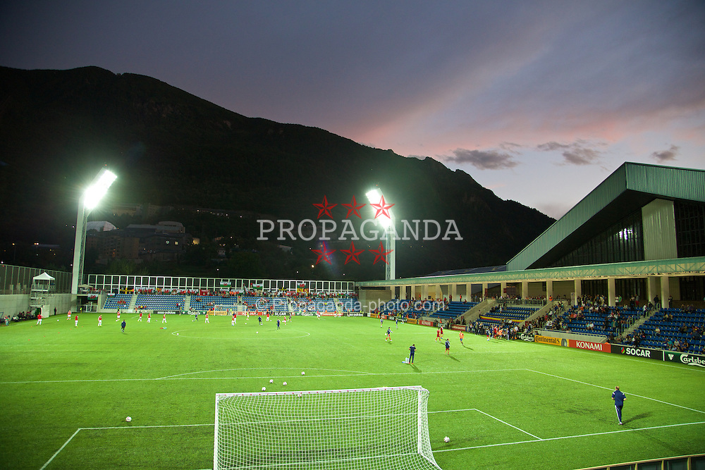 ANDORRA LA VELLA, ANDORRA - Tuesday, September 9, 2014: A general view of the Camp d'Esports del M.I. Consell General before Wales' UEFA Euro 2016 qualifying match against Andorra. (Pic by David Rawcliffe/Propaganda)